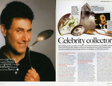 Homes & Antiques. Uri Geller – Celebrity collector