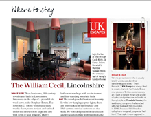 Condé Nast Traveller. UK hotel review – The William Cecil