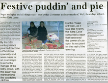Hackney Citizen. Christmas pudding
