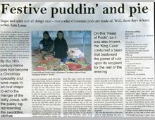 Hackney Citizen. Christmas pudding