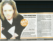 The London Paper. Tim Minchin – Q&A