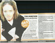 The London Paper. Tim Minchin – Q&A