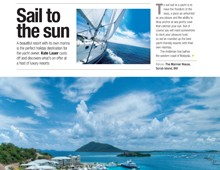Upward Curve. Sailing – best resorts with marinas